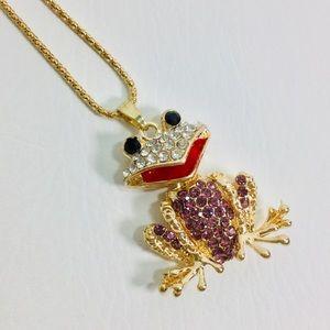 Jewelry - Sparkle frog necklace